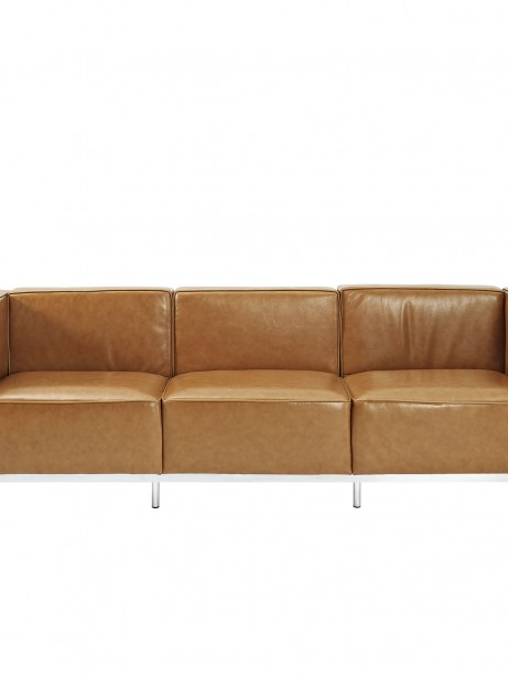 Simple Large Leather Sofa Tan 461x614