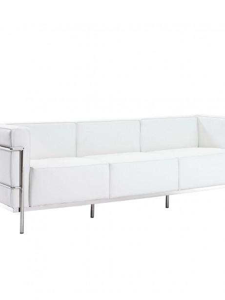 Simple Large Leather Sofa White 1 461x614