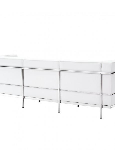 Simple Large Leather Sofa White 2 461x614