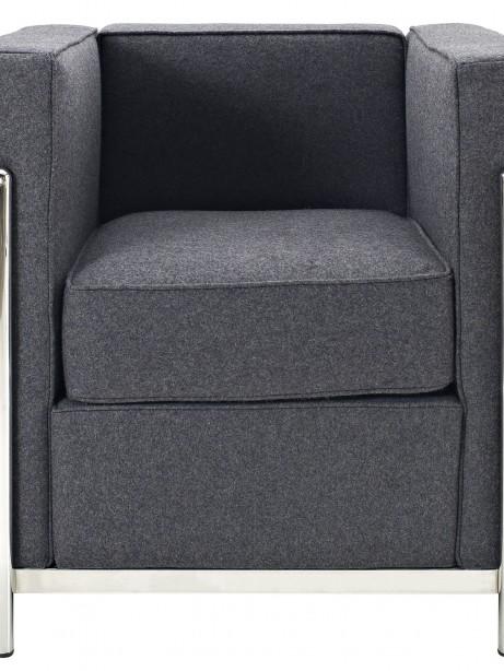 Simple Medium Wool Armchair Dark Gray 1 461x614
