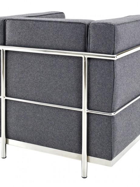 Simple Medium Wool Armchair Dark Gray 2 461x614