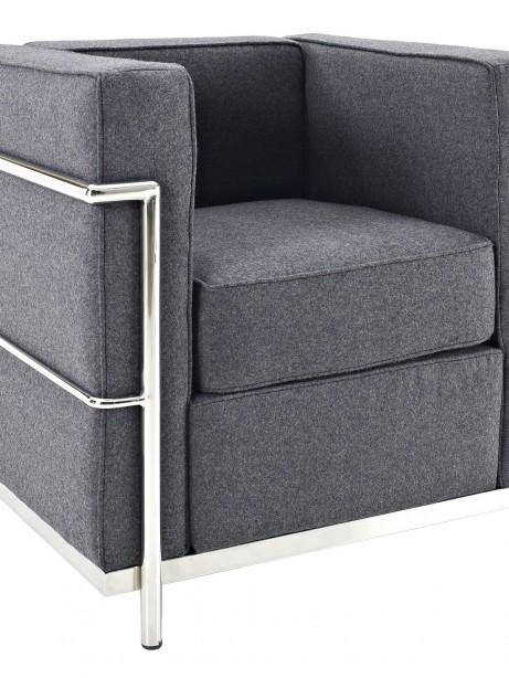 Simple Medium Wool Armchair Dark Gray 461x614