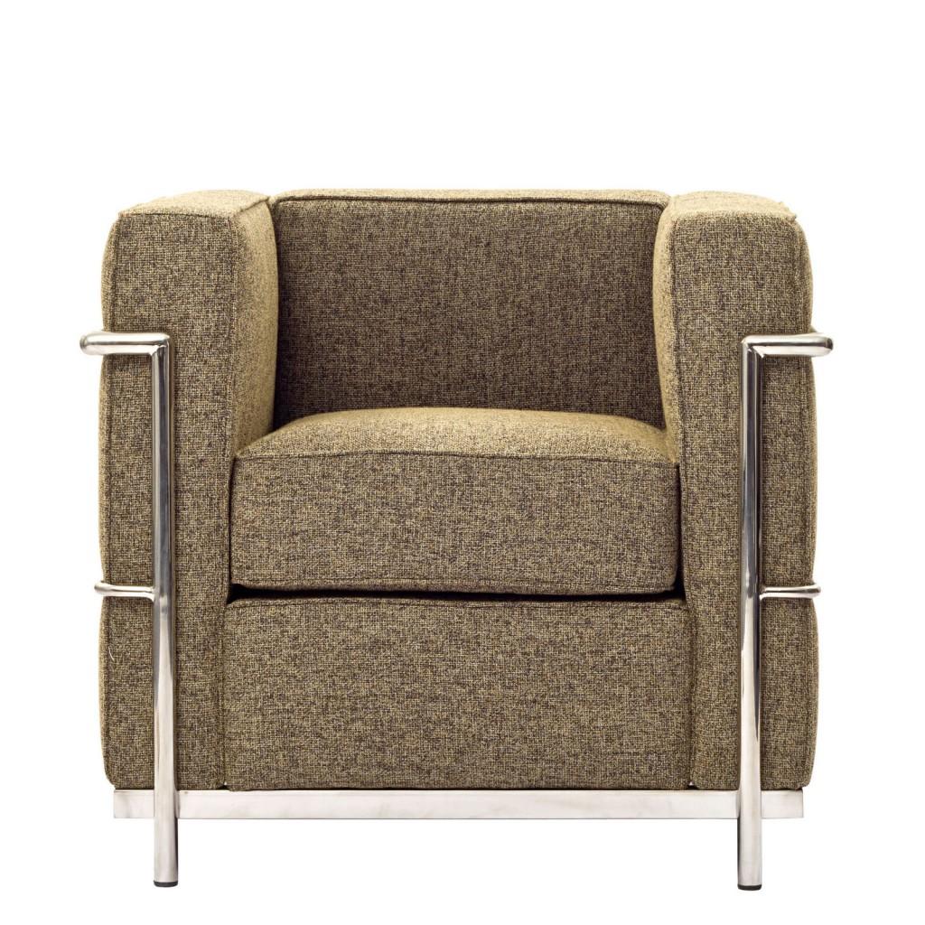 Simple Medium Wool Armchair Oatmeal
