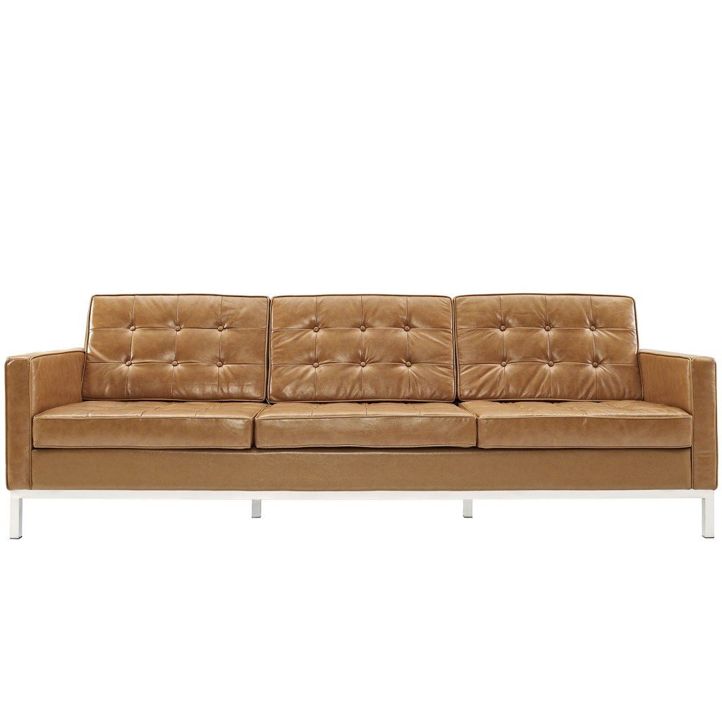 Tan Bateman Leather Sofa