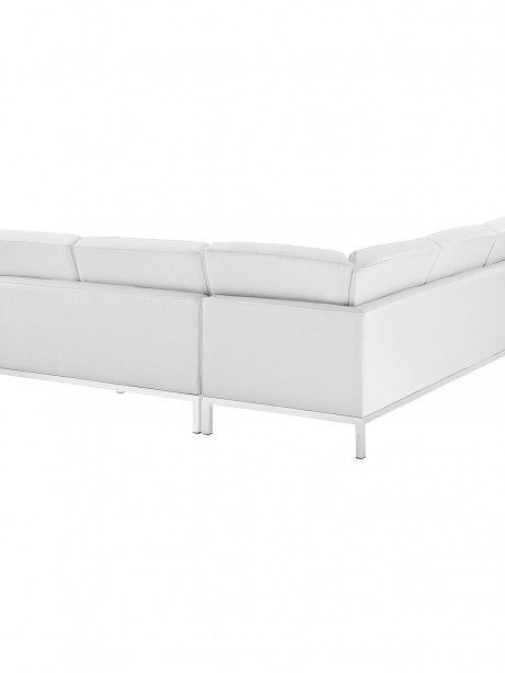 White Bateman Leather L Shaped Sectional Sofa 1 461x614
