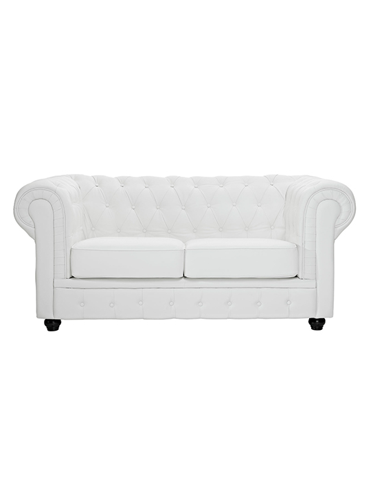White Grand Loveseat
