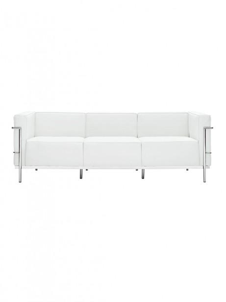 White Simple Large Leather Sofa 461x614