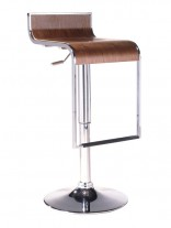 Walnut Hydroglide Wood Barstool 156x207