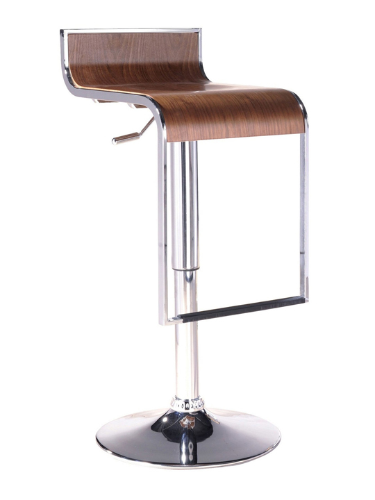 Walnut Hydroglide Wood Barstool