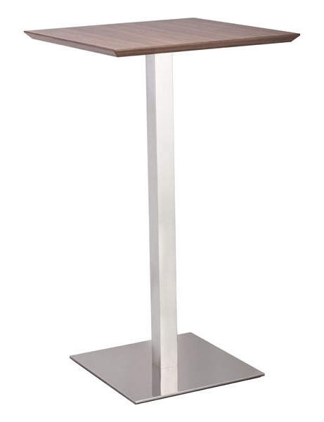 Walnut Square Bar Table 461x600