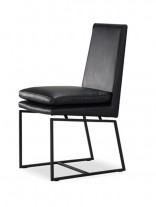 Black Motty Leather Chair 156x207