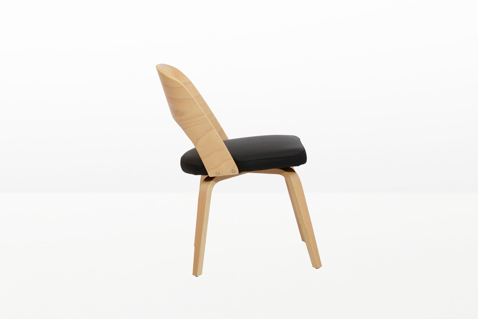Construct Chair Natural Wood Black 2