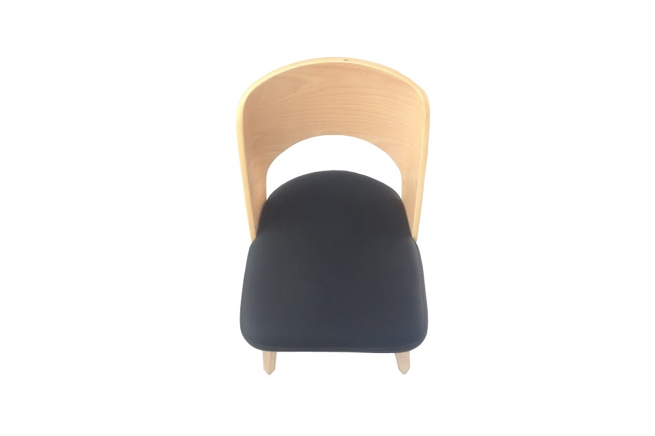 Construct Chair Natural Wood Black 4