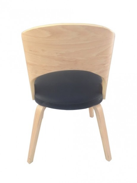Construct Chair Natural Wood Black 461x614