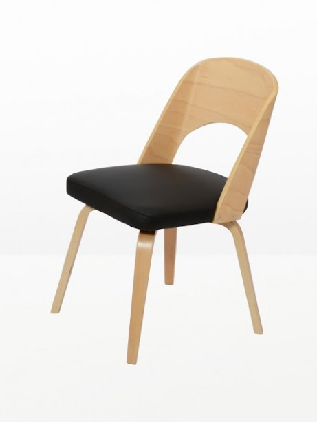 Construct Chair Natural Wood Black 5 461x614