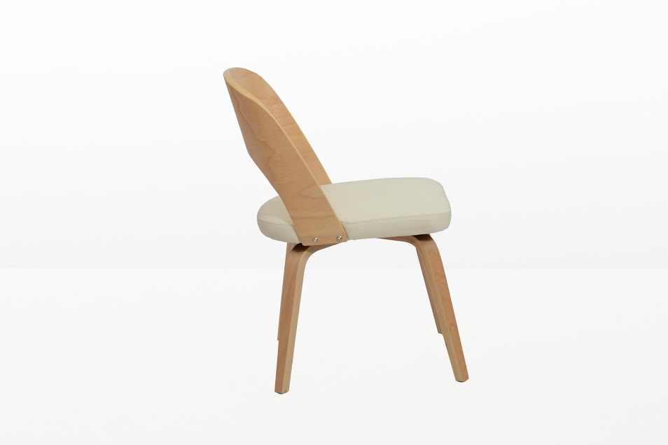 Construct Chair Natural Wood White 2