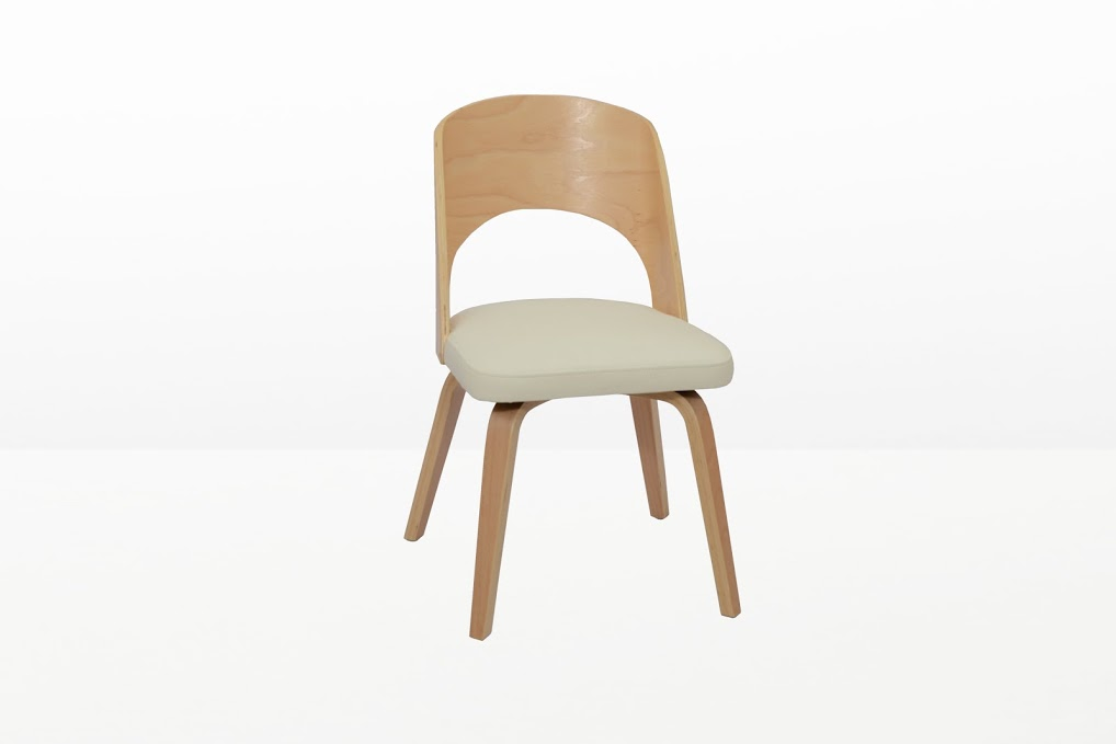 Construct Chair Natural Wood White 7