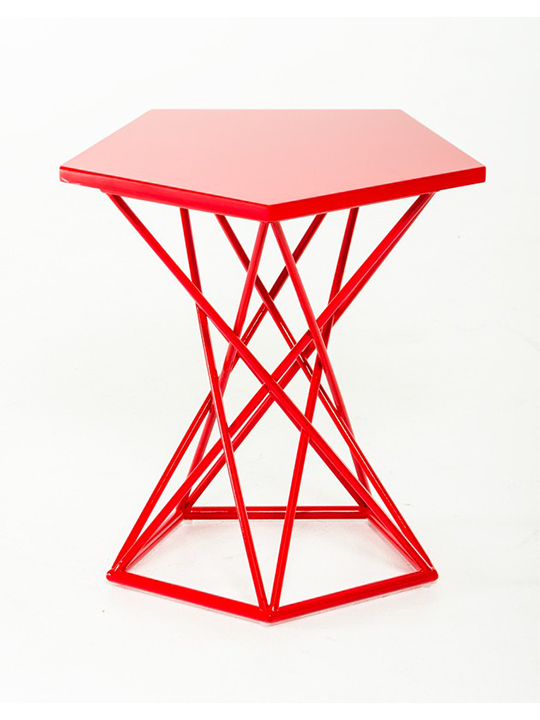 Demi Geometric Side Table