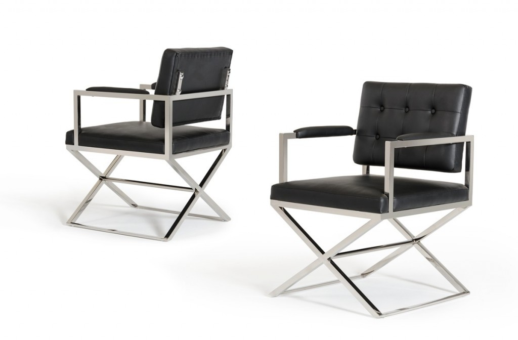 Glam Chair Black Leather 2