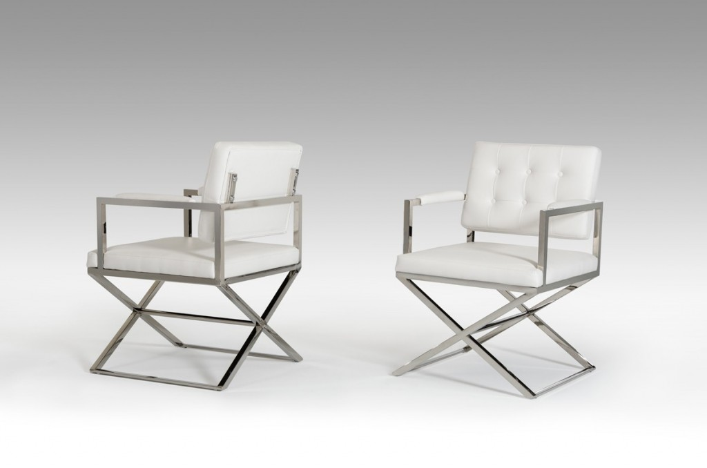 Glam Chair White Leather 3