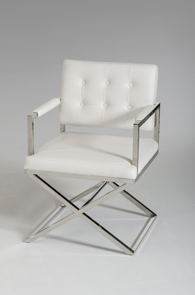Glam Chair White Leather 4