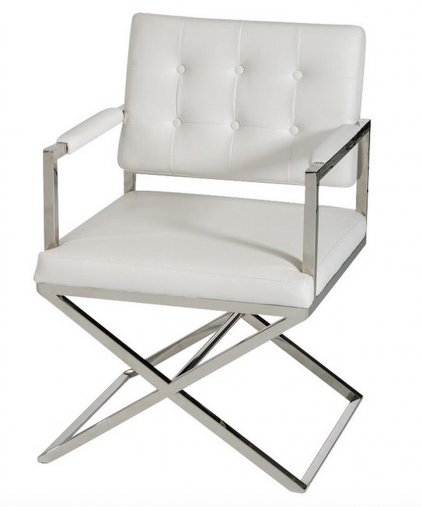 Glam Chair White Leather 5