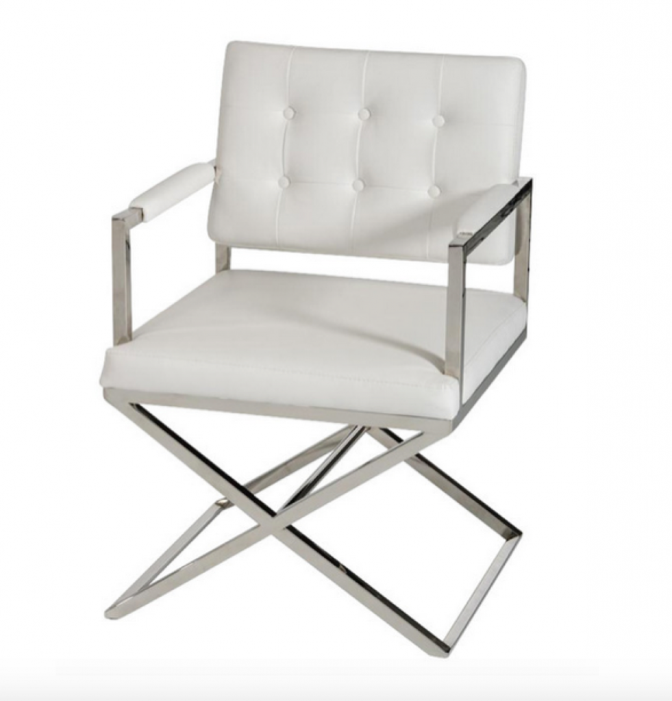 Glam Chair White Leather