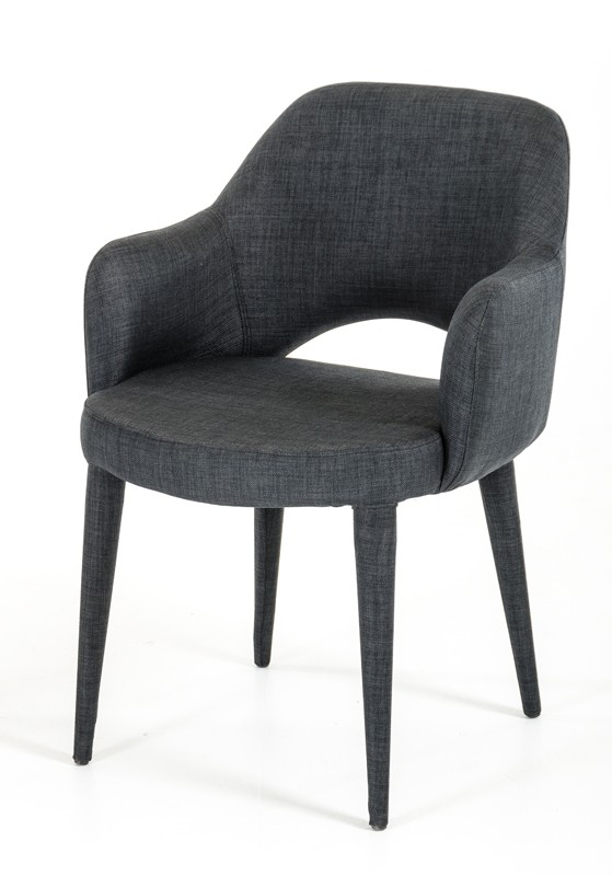 Porter Gray Wool Chair