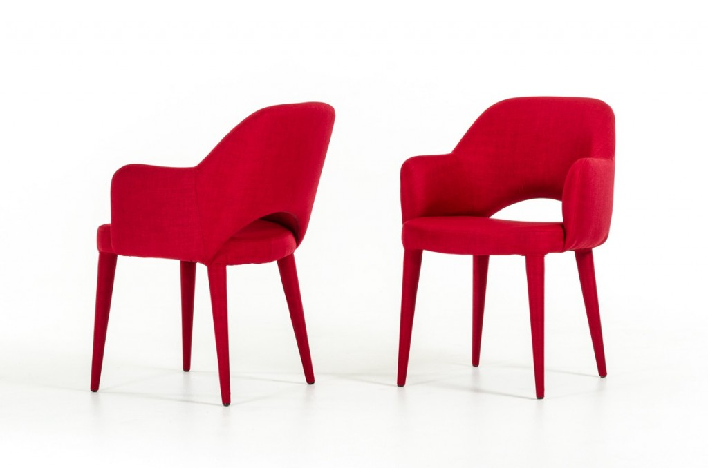 Porter Red Wool Chair 2