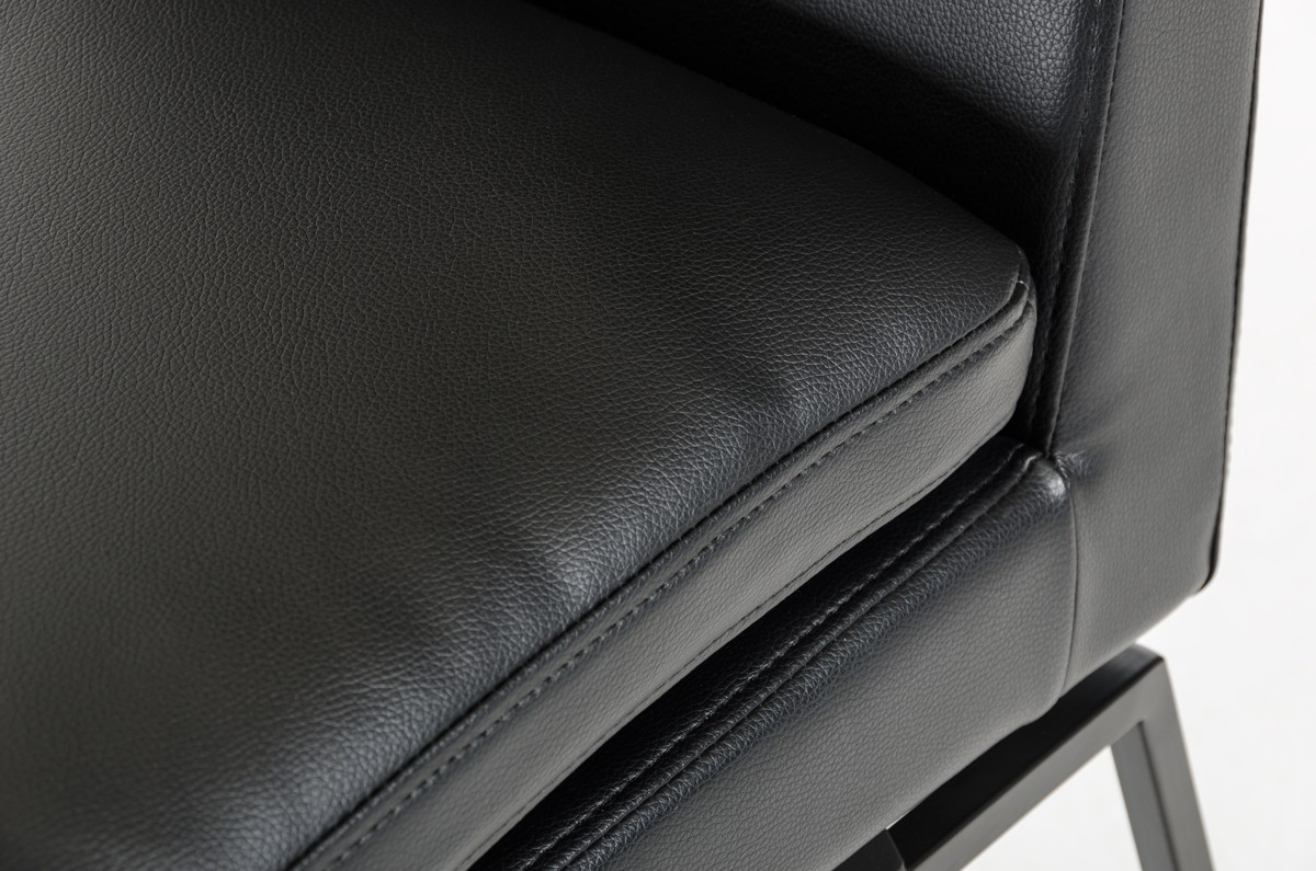 black leather chair motty