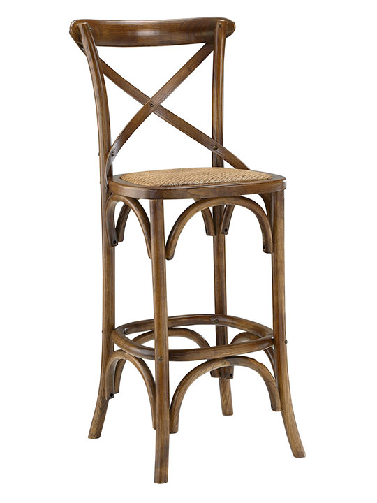 X Wood Barstool