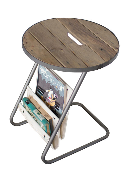 canvas wood side table
