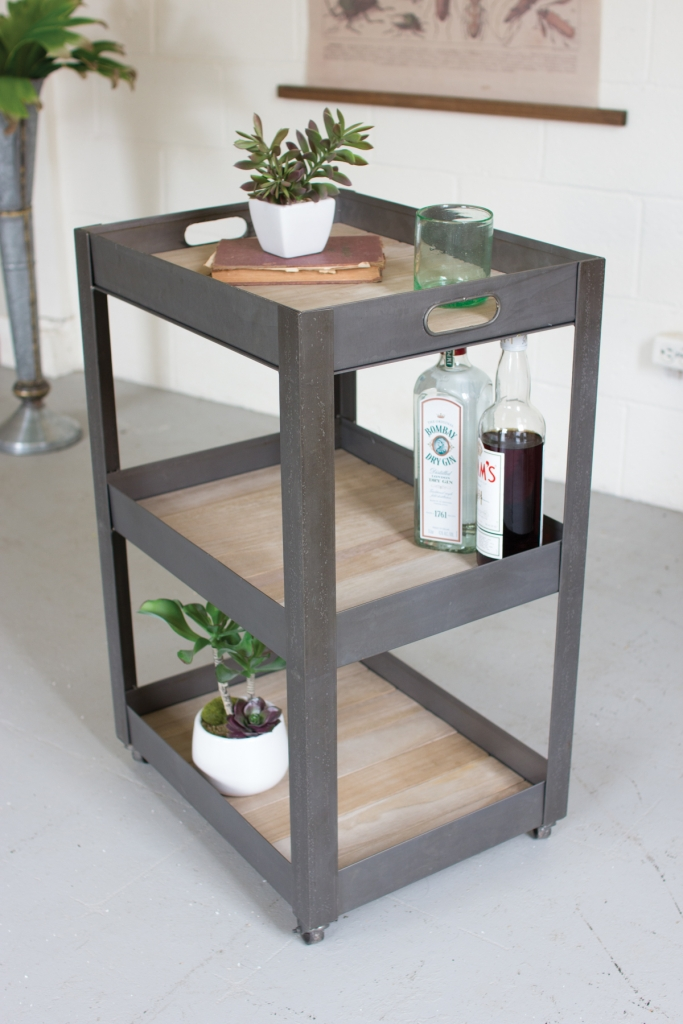 3 Tiered Tray Rolling Cart