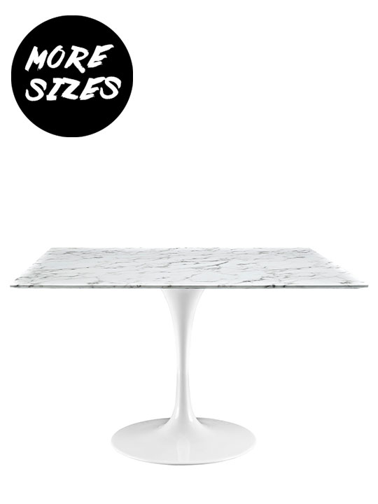 Brilliant Square White Marble Table