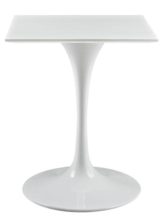 Brilliant Square White Side Table