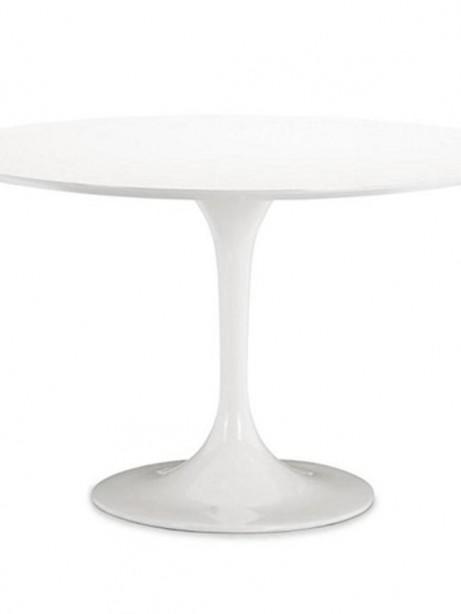 Brilliant White Tulip Table 30 Inch  461x614