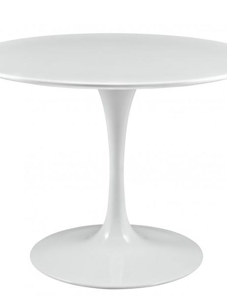 Brilliant White Tulip Table 40 Inch 461x614