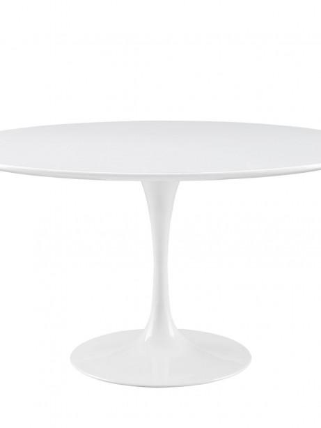 Brilliant White Tulip Table 42 Inch 461x614