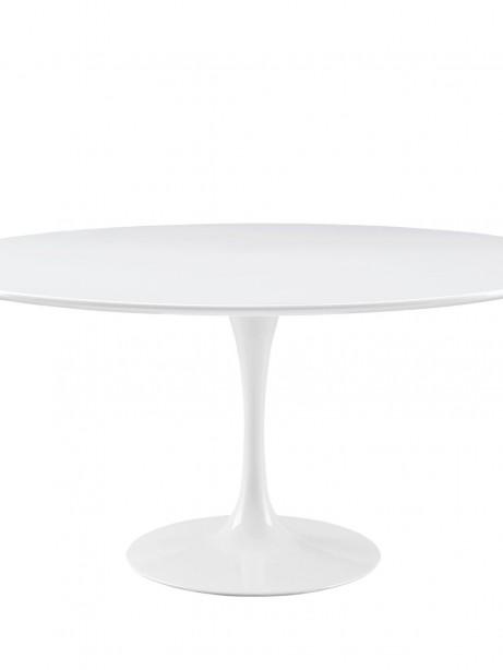 Brilliant White Tulip Table 60 Inch 461x614