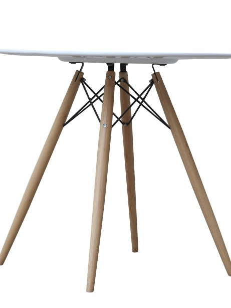 MCM White Wire Table 29 Inch  461x614