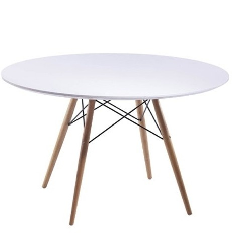 MCM White Wire Table 48 Inch 461x500