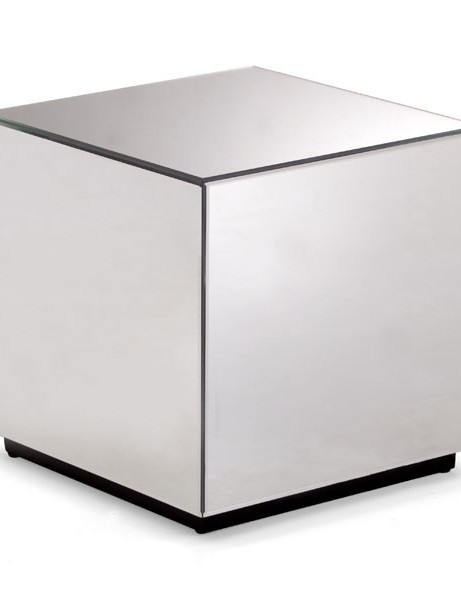 Mirror Cube Side Table 461x600