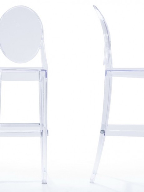 Throne Barstool Clear  461x614
