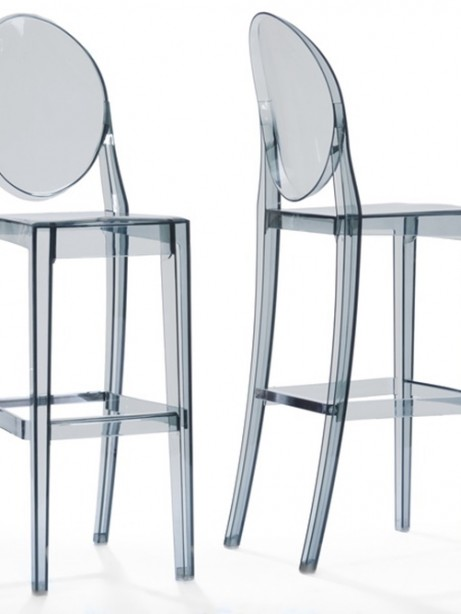 Throne Barstool Gray Transparent  461x614