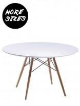 Wood Wire White Dining Table 156x207
