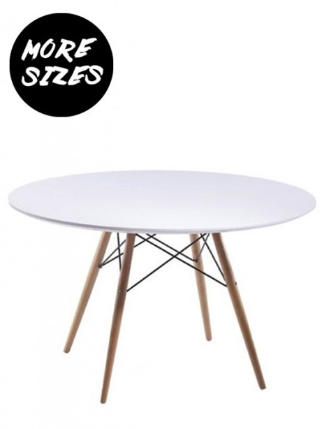 Wood Wire White Dining Table 461x614