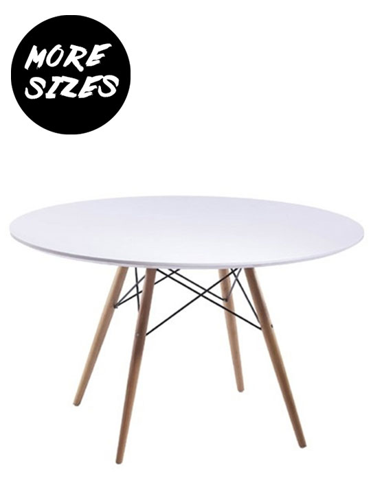 Wood Wire White Dining Table