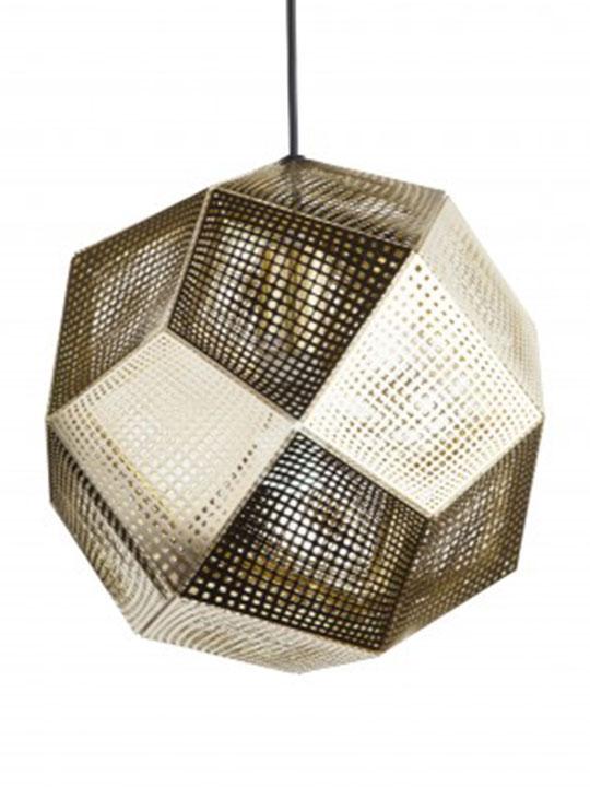Gold Contour Pendant Lamp