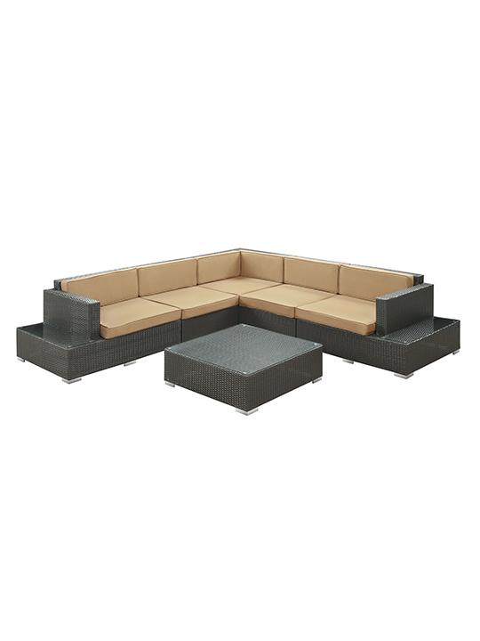Light Brown Cancun 6 Piece Outdoor Sofa Set2