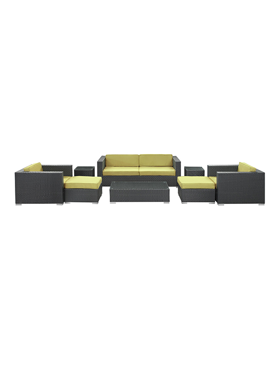 Lime Green Barcelona 8 Piece Outdoor Sofa Set